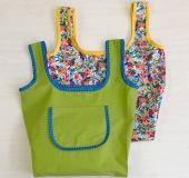 縫いで作るパイピングが可愛いエコバッグ