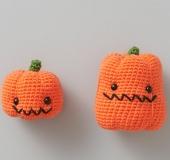 クロバーかぎ針で編むあみぐるみ・かぼちゃ(大)