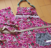 小学生女の子用エプロン&三角巾♪