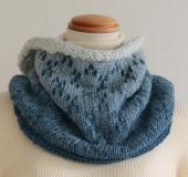 ランドスケープで編む 編み込みスヌード