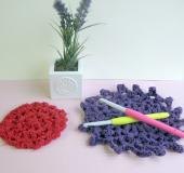 ジャンボかぎ針「アミュレ」で編む 裂き編みドイリー