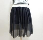 超簡単!チュールニットスカート