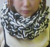 ジャンボ編み 輪針でぐるぐる編むスヌード