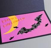 カーブはさみで作る ハロウィンのグリーティングカード 図案集