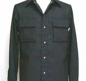 メタルボタンのメンズシャツ 立体ポケット仕様