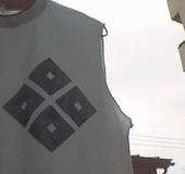 超電磁波バリヤーTシャツ「四目中心ロゴ ノースリーブ」タイプ