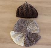ランドスケープで編む なわあみベレー帽&マフラー