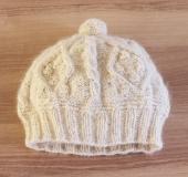 ペルファボーレで編む アラン帽子