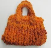 ジャンボ編み モフモ1玉バッグ
