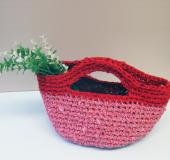 ジャンボかぎ針「アミュレ」で編む 裂き編みバッグ