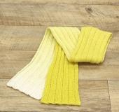 ランドスケープで編む リブ編みのマフラー