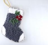 ニードルパンチ作品を雑貨に*クリスマスの靴下☆
