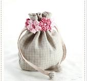お花の巾着袋