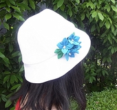 クイック帽子テンプレートで作る UV対策ハット