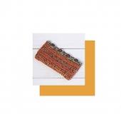 ダブルフックアフガン針で編むペンケース