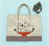 花刺繍バッグ