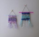 クロバーミニ織りで織る キラキラ夜空のタペストリー