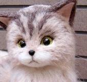 羊毛フェルト 茶猫