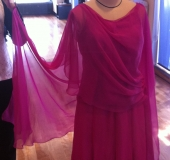ワイン色のラテンドレス