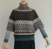 ランドスケープで編む 編み込みプルオーバー