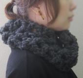 ジャンボ編み ネット編みのカウル