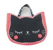 ネコ顔型バッグ