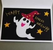 カーブはさみで作る ハロウィンのグリーティングカード