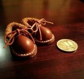 レザークラフト ミニチュア 革靴