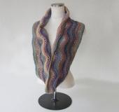 ランドネーゼで編む透かし編みスヌード