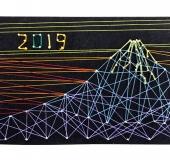 ストリングボード フリーデザインで作富士山のストリングボード