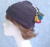 毛糸のタッセル*ニット帽とコーディネート