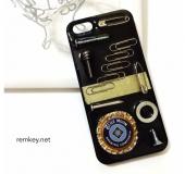 びんのふた王冠iPhoneケース(黒)