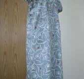 グレー花柄ホームドレス