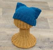 モイモイで編む ねこ耳帽(キッズサイズ)