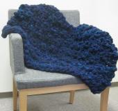 ジャンボ編み 輪針で編むひざかけ