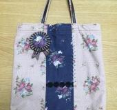 お花のバッグ(ロゼット付き)