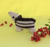 クロバーかぎ針で編む うり坊編みぐるみ