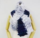 モフモで編む ガーター編みの2玉マフラー