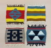 クロバーミニ織りで作る キリム風ミニマット