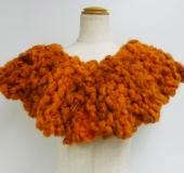 モフモで編む 引き返し編みのスヌード