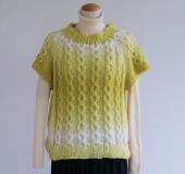 ランドスケープで編む トップダウンで編む半袖プル
