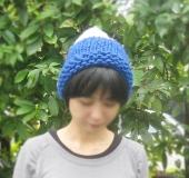 ジャンボ編み ガーター編みニット帽