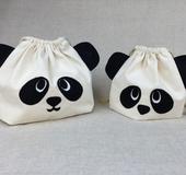 親子パンダの巾着袋