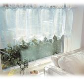 クロバー手織り機「咲きおり」でつくる カフェカーテン