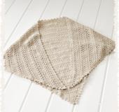 かぎ針編みの 三角ショール