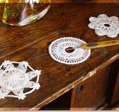 ヘアピンレースで編む 丸モチーフ3種