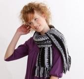 透かし編みのマフラー