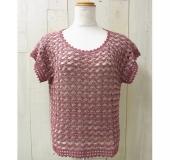 ダブルフックアフガン針で編む 春夏のセーター