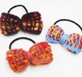アフガン編みで作る リボンのポニー