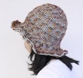 ダブルフックアフガン針で編む チューリップハット